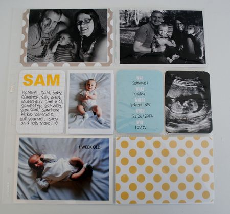 Seafoam project life baby book title page
