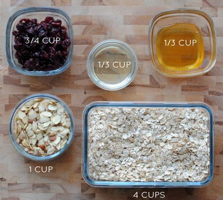 5 Ingredient Granola - Amounts