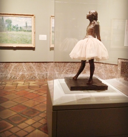 Degas sculpture and monet painting at joslyn art musum omaha