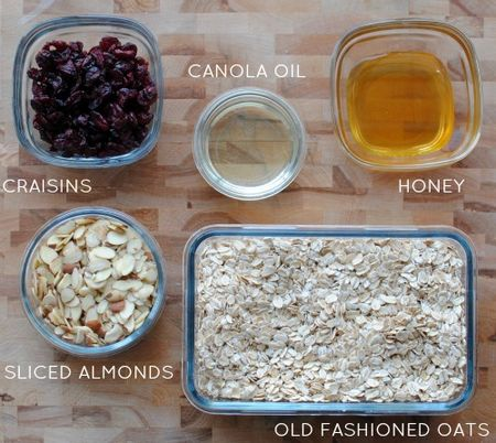 5 Ingredient Granola - Ingredients