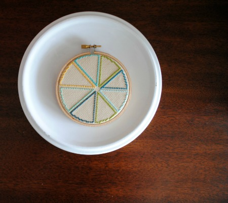 Pie chart modern cross stitch