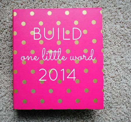One little word 2014 - build cover (2)