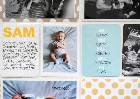 Sam baby book 1 detail