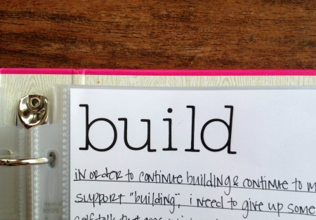 One little word - build