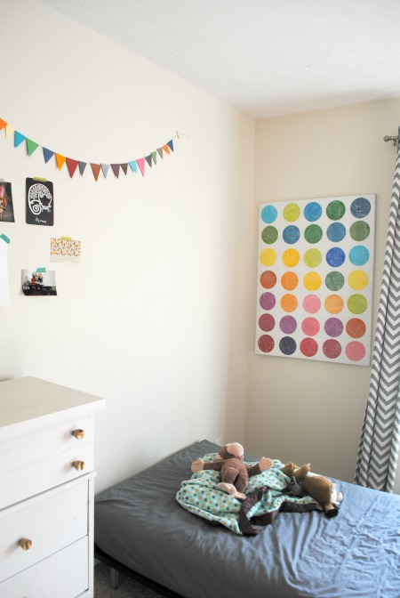 Colorful circle art childrens room modern