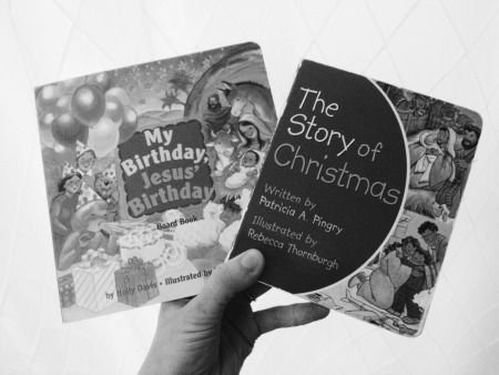 My birthday, jesus birthday and the story of christmas board book - advent