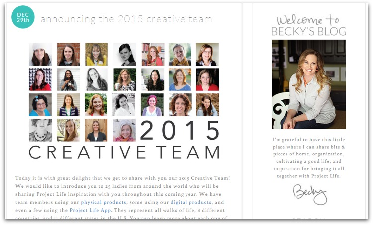 Becky higgins 2015 creative team