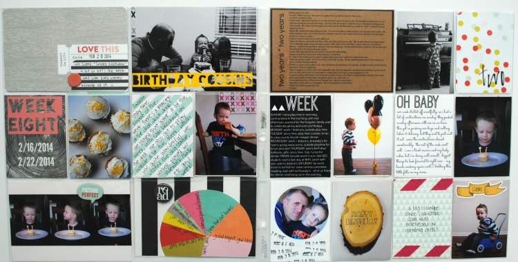 Project life birthday layout