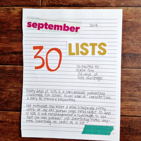 30 lists september 2014 #30lists - grace and light