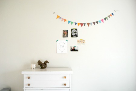 Paper garland modern kids room