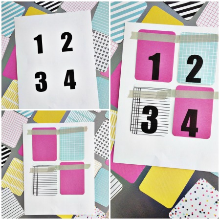 Bright and modern advent calendar using project life cards