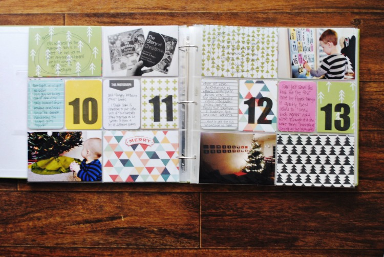 December daily days 10-14 2014 project life