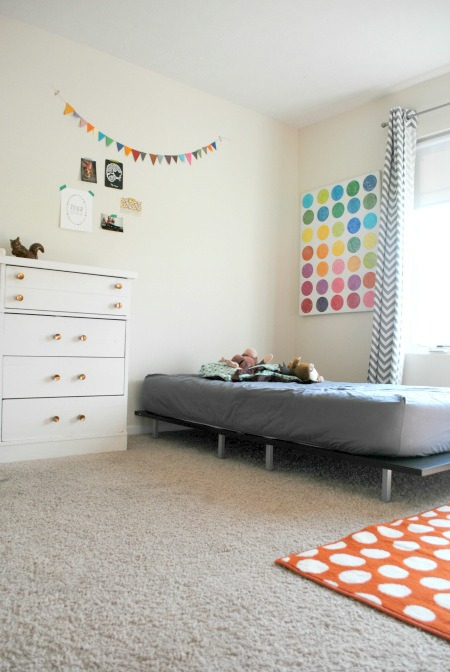 Bright on white kids room