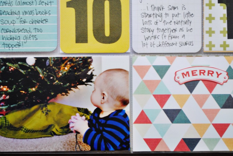 December daily project life 2014 detail day 10
