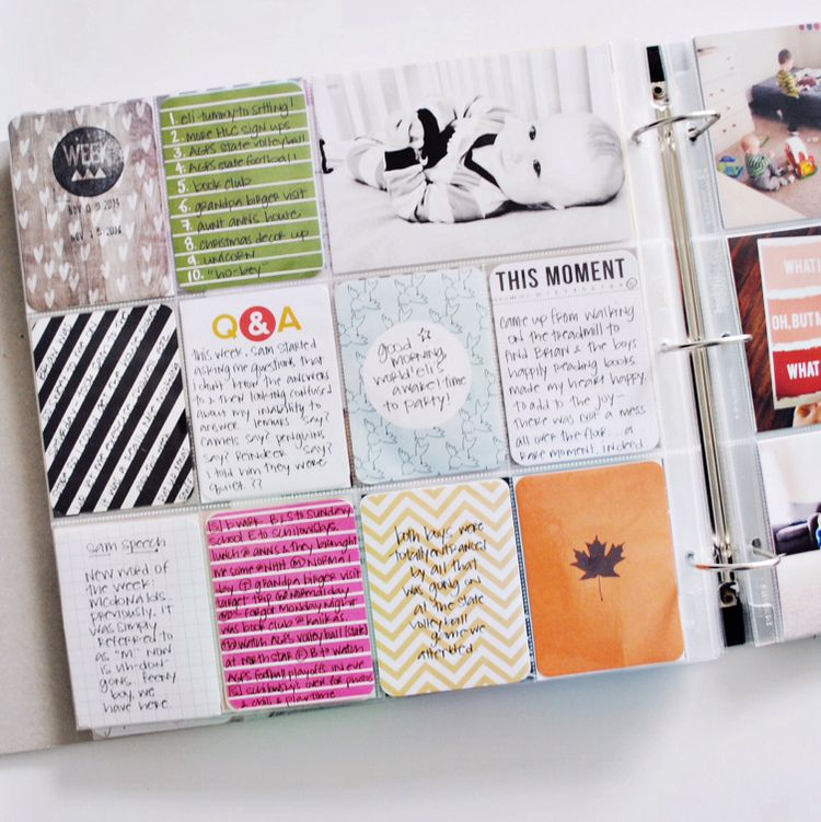 Add more journaling to your project life layouts